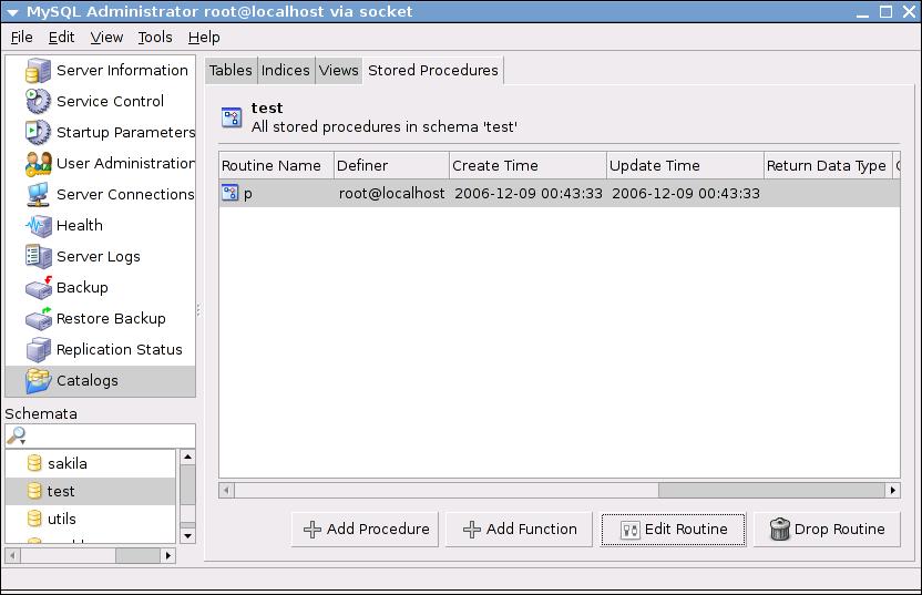 MySQLAdministratorStoredProcedures