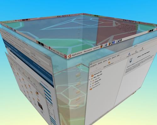 le cube transparent et le greffon vue 3d activé