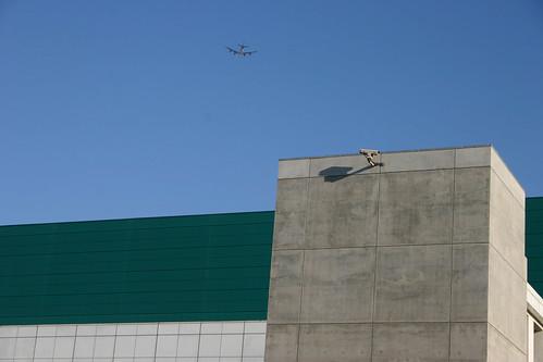 Camera, building, plane