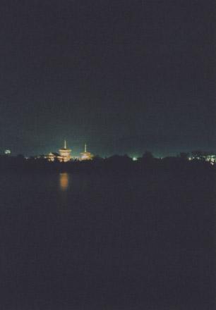 薬師寺の夜景