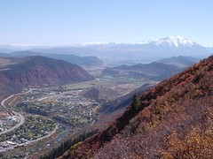 Glenwood Springs from Red Mountain