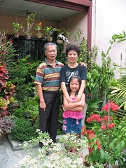 With our eldest grandchild, Dylea at our garden