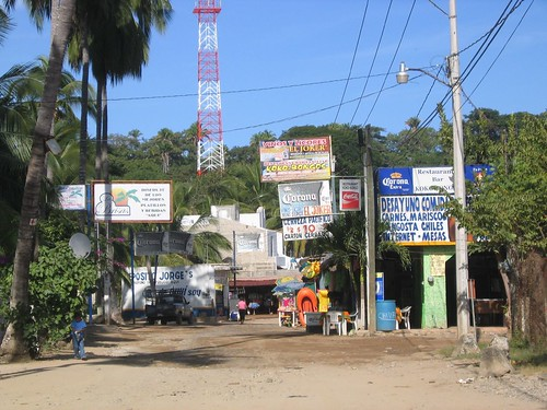 downtown Chacala