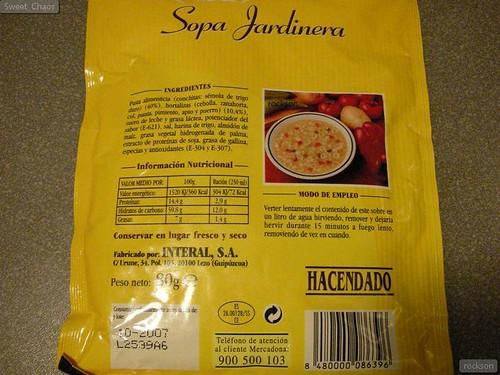 Sopa Jardinera Cooking