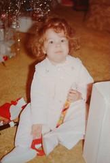 Amanda @ Christmas 1979