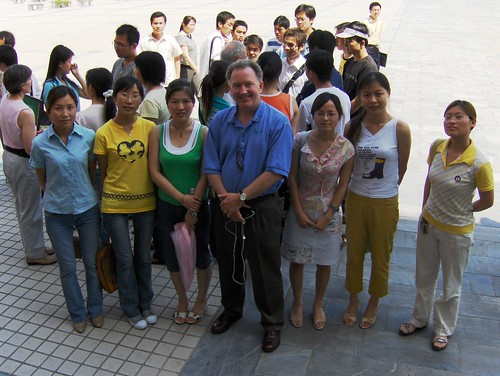 Meeting students in China