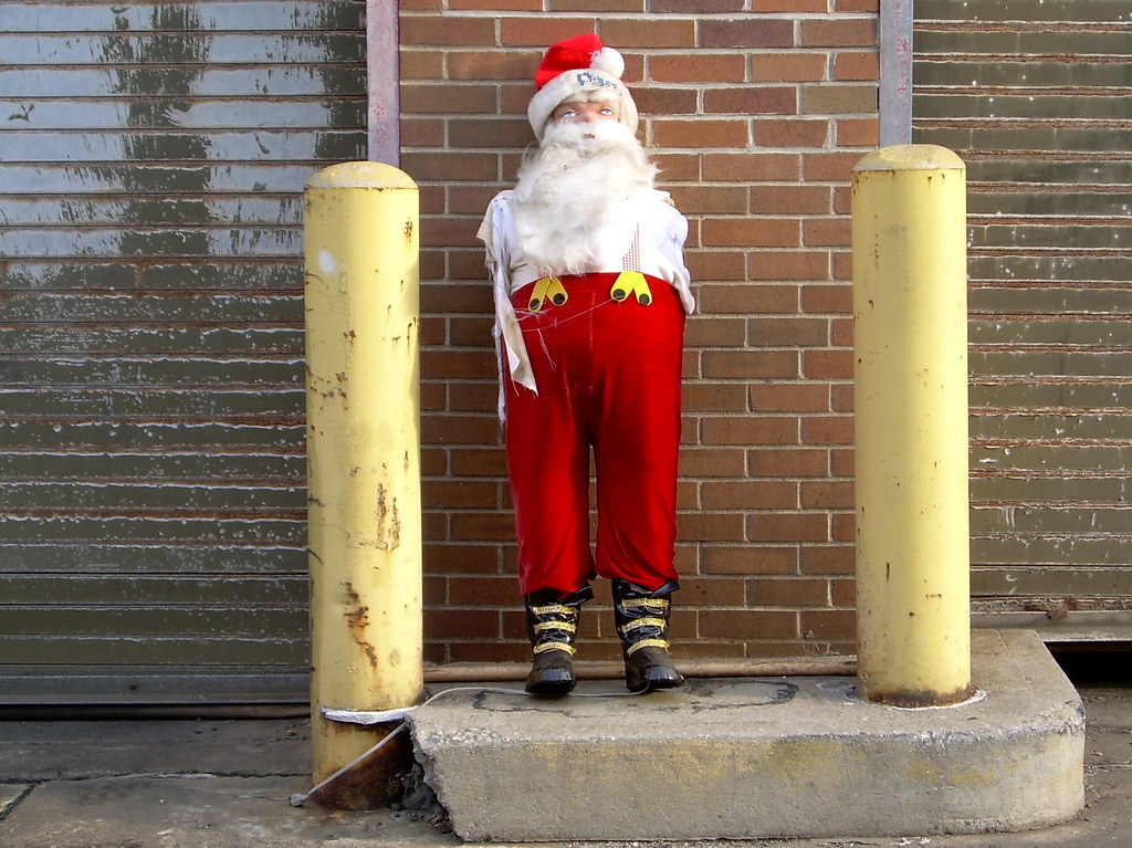 armless santa, sunset park