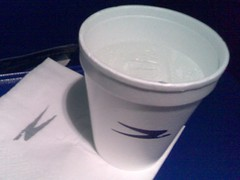 A Foam Cup on Aerolineas Argentinas