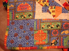 Corner shot of my Chanukah Quilt.