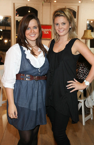 Alice Leahy & Gillian O'Callaghan at the' Barrys Tea with WAH Nails' event in The Loft,  Powerscourt Town House