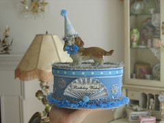 Altered Vintage  Doxie Figurine Box photo by bellawood