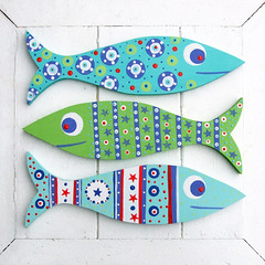Wooden Fish Decorations photo by The Bunny Maker