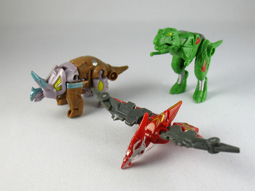 Classics Minicons Knockdown, Swoop, and Terrorsaur