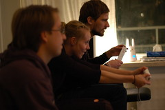 Gamers playing Nintendo Wii