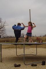 Robbie Ashlee and Aimee Trampoline 121706