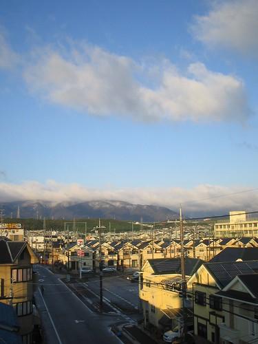 Premières neiges de la saison sur le nord de Kyoto