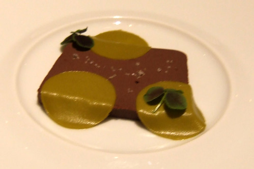 Ideas in Food - Chocolate Terrine - pistachio, red carpet clover, vanilla salt