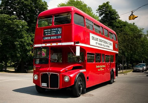 London Bus at Niagara-On-The-Lake