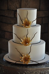 Zen Wedding Cake photo by Designer Cakes By April