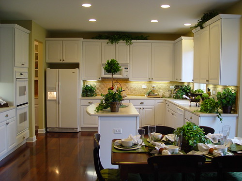 Fresh spacious kitchen cabinet design