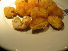 Croquetas de s�mola de trigo y de harina