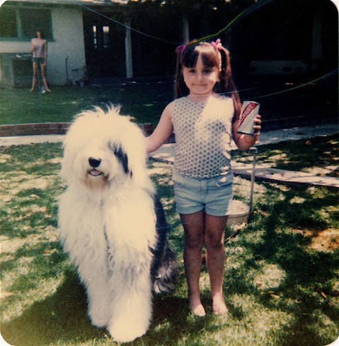Lelo and Old English Sheepdog