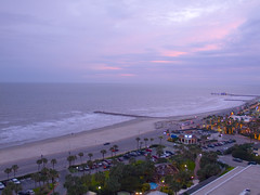 Galveston_Pink Sky at night