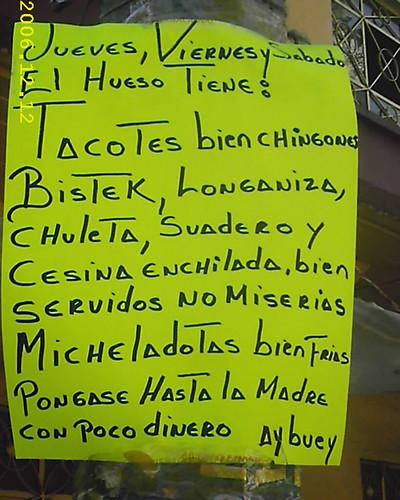 El Hueso (Tacos)