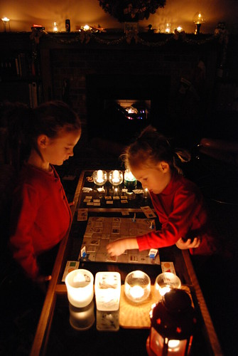 Board Games by candlelight