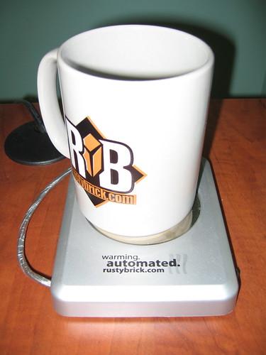 RustyBrick USB Mug Warmer & Mug