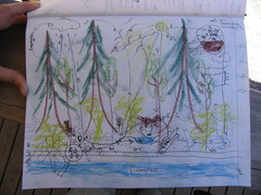 web of life exercise - a forest.. sortof..