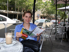 Enjoying Melbourne's cafe culture