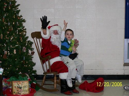 Dominic and Santa