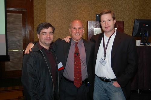 Joe, Moshe, and Ric before the Keynote