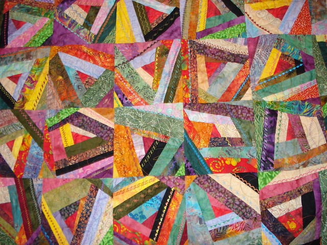 Embroidery stitches crazy quilt « origami