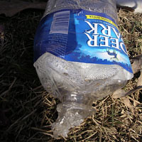Construction Debris, Water Bottle (pre-chewed)