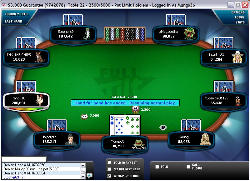 Start of Final Table