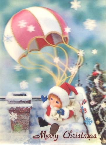 Lenticular Christmas Postcard