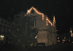 Christmas decorations in Oundle.