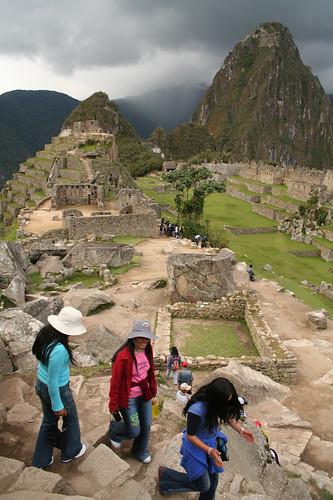 Concurrido Machu Picchu