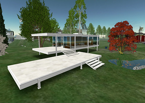 Update: Designer Dingson's Installation of the Farnsworth House