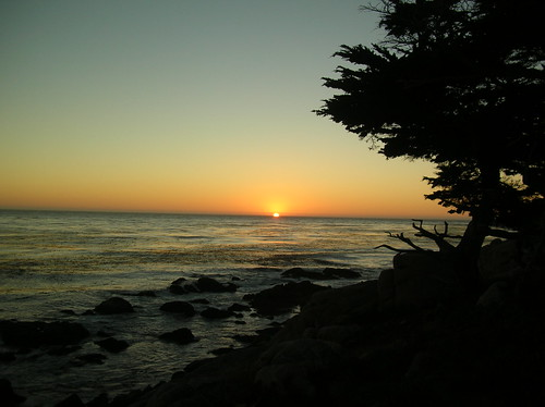 Sunset on the 17-Mile Drive, Monterey Bay