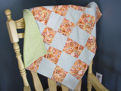Funky Squares Baby Blanket
