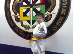 Drew gets his Yellow Belt_12-09-06