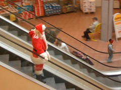 Santa on his way to work...