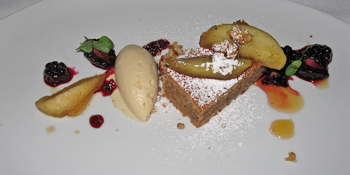 Cinnamon Spice Cake with Foie Gras Ice Cream