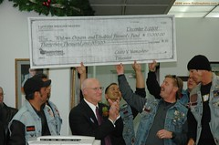 Fire Hogs LAFD Motorcycle Club makes a generous charitable donation. Click to enlarge...