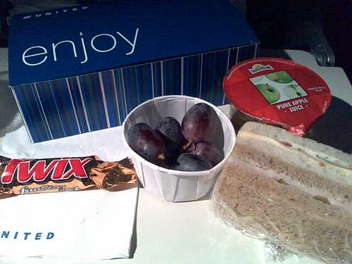 A Snack Box on United Economy