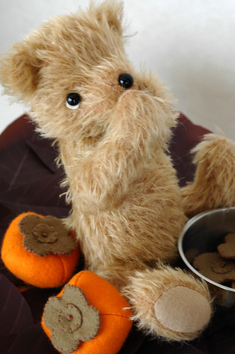 Mr. Hiccup Bear and persimmons