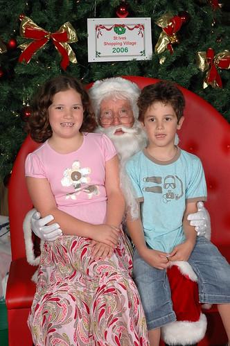 Emma and Brice See Santa 2006